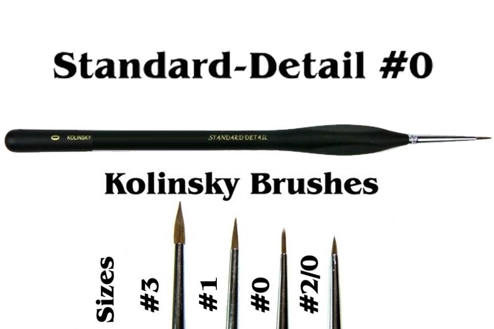 Brushes Detail 0 Natural Kolinsky