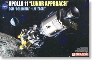 """Apollo 11 """"Lunar Approach"""" CSM """"Columbia"""" + LM """"Eagle"""""""