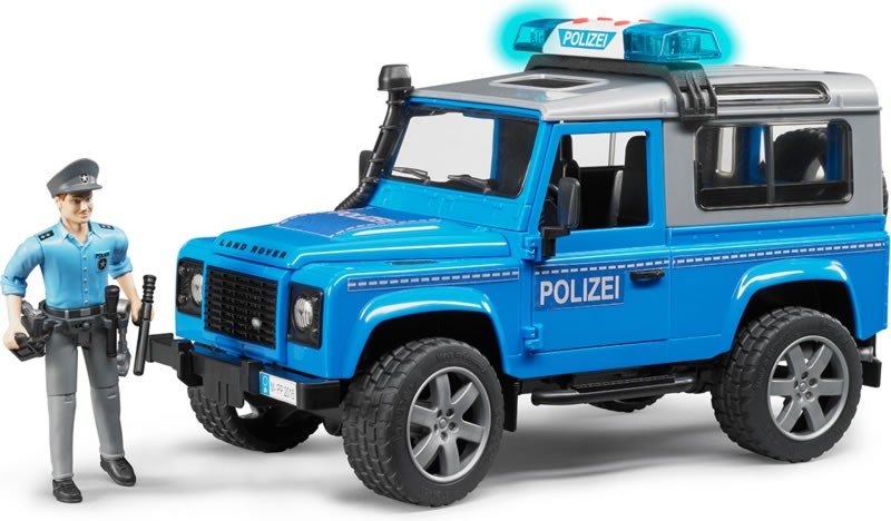 Land Rover Defender station wagon police vehicle