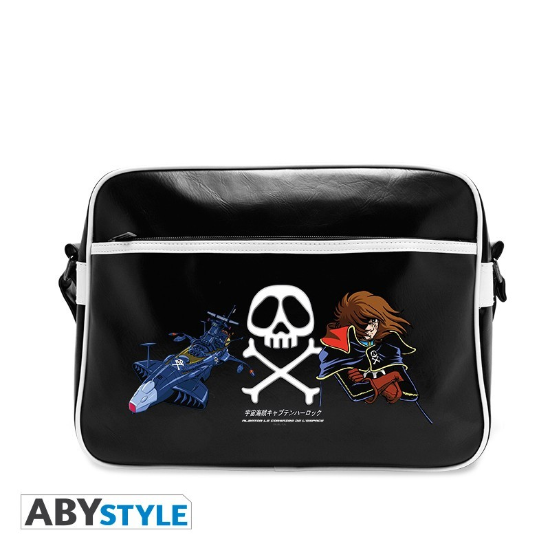 "CAPTAIN HARLOCK - Messenger Bag ""emblem & ship"" Vinyle"