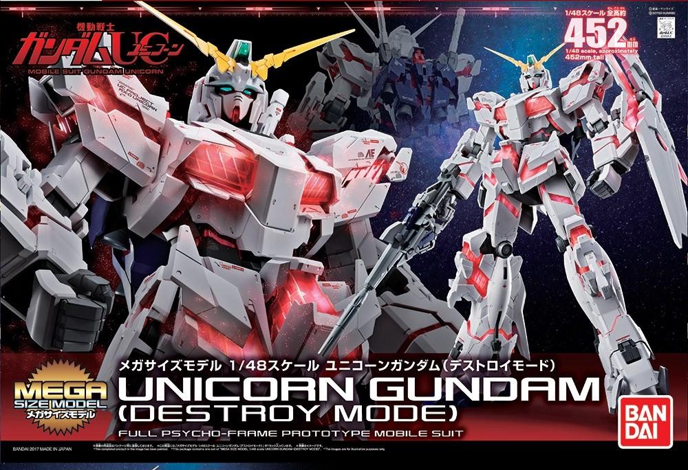 Megasize Gundam Unicorn Destroy Bandai