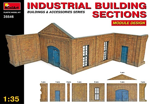 Industrial Building Sections. Module design.