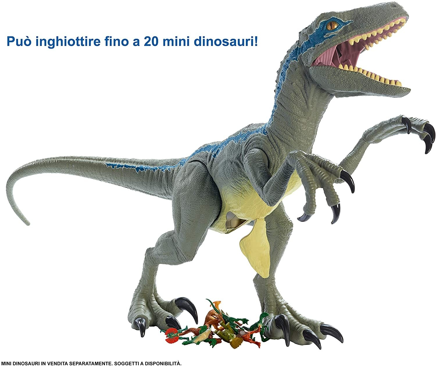Jurassic World Velociraptor Blue Super Colossale