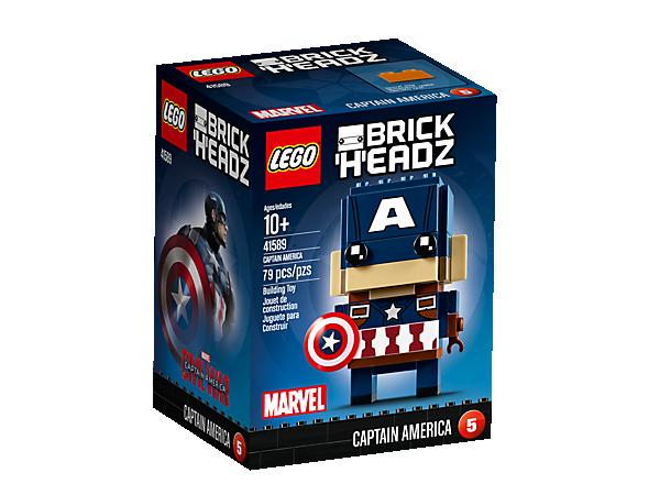 Brick Headz Captain America Lego