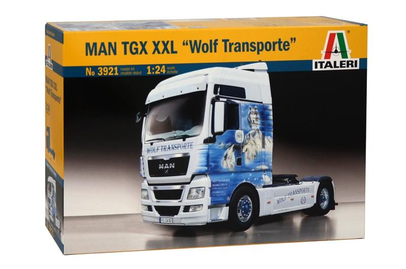 Man TGX XXL wolf transporte Italeri