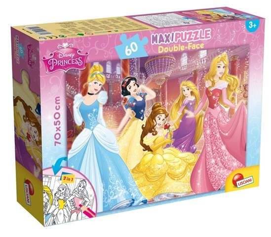 Maxi Puzzle Double-Face Disney Princess Lisciani