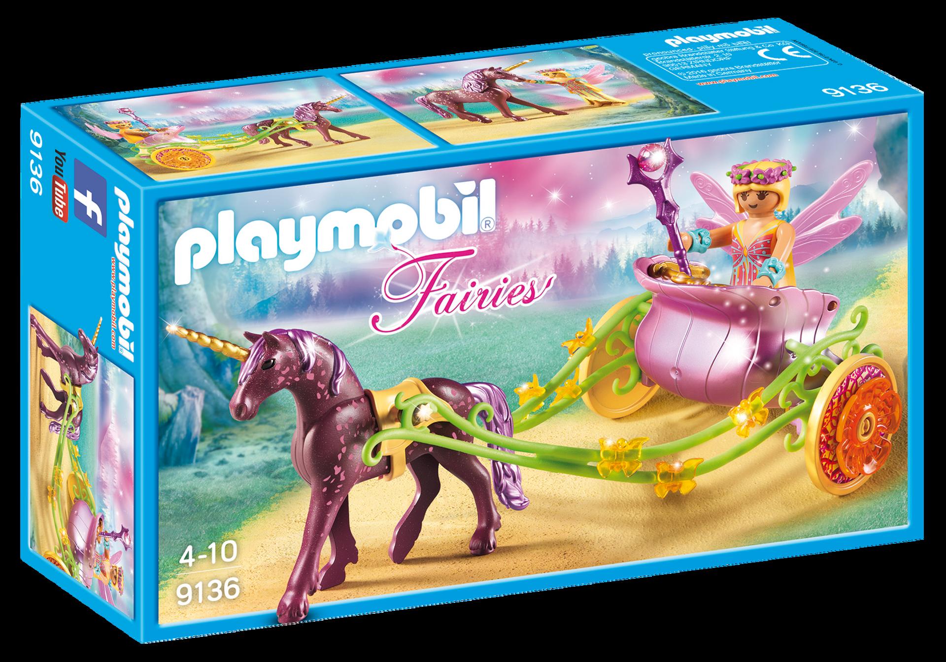 Carrozza della fata dei fiori con unicorno Playmobil Fairies