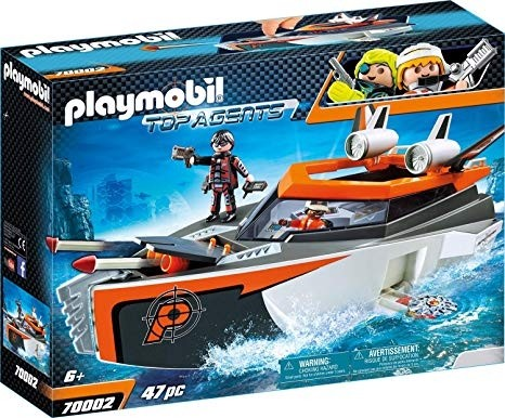 Playmobil Top Agents Motoscafo Turbo Spy Team