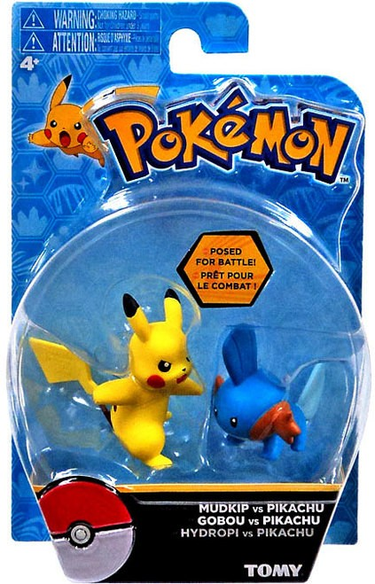 Pokemon Mudkip vs Pikachu Tomy
