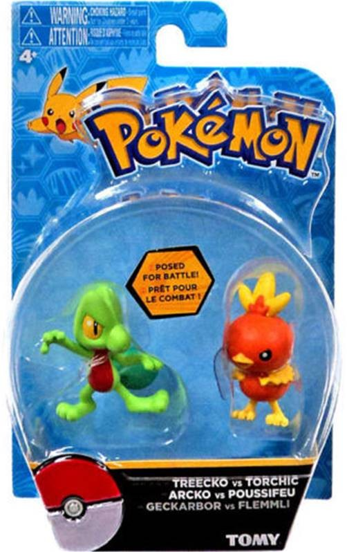 Pokemon Treecko vs Torchic Tomy