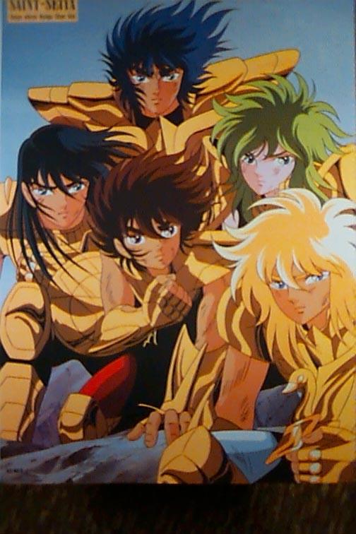 Poster Saint Seiya gold cloth