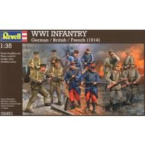 WWI German, UK, France Infantry Set