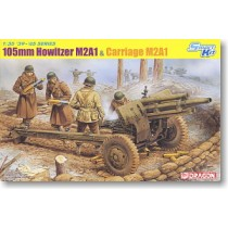 105mm Howitzer M2A1 & Carriage M2A1 with Crews