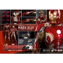 "Iron Man 12"" Mark 43 Die cast by hot toys"