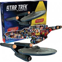 Star Trek Shaped Double Enterprise puzzle Aquarius ent