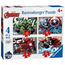 Avengers Puzzle 4 in a box Ravensburger