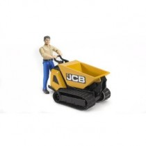 JCB Dumpster HTD-5 with construction worker (colours of clothes assorted)