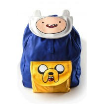 Adventure time logo eyes blue yellow bag