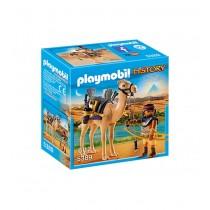Guerriero egizio con cammello