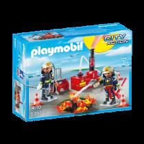 Esercitazione dei vigili del fuoco Playmobil