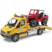Bruder 2535 - Carro attrezzi Mercedes Sprinter con Jeep