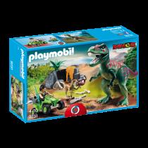 Tirannosauro Rex con esploratore in Quad Playmobil