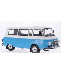 Barkas B 1000 Mini Bus 1956 Blue/White 1:18