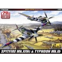 Spitfire Mk.Xivc & Typhoon Mk.Ib Include 2 Modelli