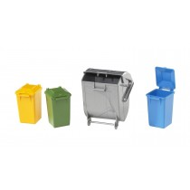 Garbage can set ( 3 small 1 large )