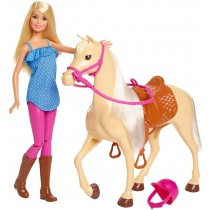 Barbie Bambola con Cavallo e Accessori