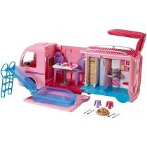 Barbie Camper dei sogni per le bambole con la piscina, bagno, cucina e tanti accessori