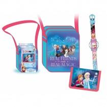 Frozen set borsa + p.foglio + orologio
