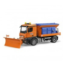 MB arocs winter service vehicle with plough blade