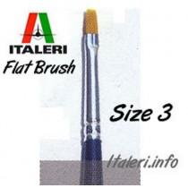 Italeri Size 3 Synthetic Flat Brush
