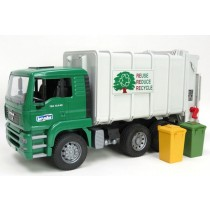 Man TGA RAR loading garbage truck ( Green-white)
