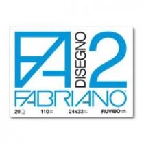 Cartella disegno Fabriano FA2 24x33 FG 20 Ruvido