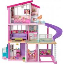 Barbie Casa dei sogni per bambole, con 8 stanze, con garage, piscina, scivolo, ascensore e accessori