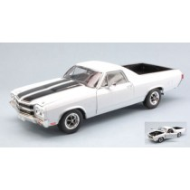 Chevrolet El Camino 1970 White W/Black Stripes 1:18