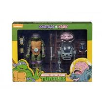 TMNT Cartoon Donatello VS Krang BW