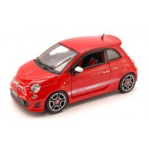 Fiat 500 Abarth 2008 Red by Burago