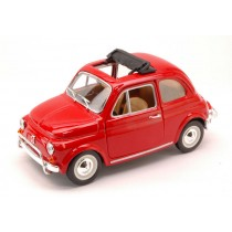 Fiat 500L red 1968 Burago