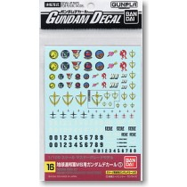 Gundam decal MG multi federation