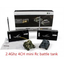 HappyCow 777-213 Mini Radio Control Battle Tank Set con luce