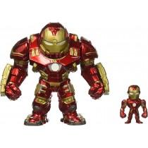 Marvel Jada Metals Die Cast Hulkbuster 15,5 cm con Iron Man figura rimovibile