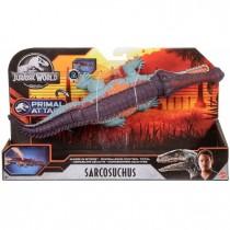 Jurassic World- Sarcosuchus Mega Morso, Dinosauro di Circa 40 cm