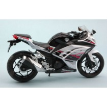 Kawasaki Ninja 300 White / Black Moto 1:12 Model JOY CITY