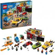 Lego 60258 – Autofficina Set da Costruzione con il Carro Attrezzi, una Hot Rod, una Roulotte e una Motocicletta