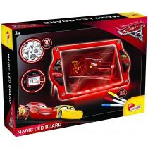 Lisciani Giochi 62454-Cars 3 Lavagnona Magica LED Fluo