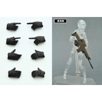 Little Armory-OP3 Figma Tactical Glovers Stealth Black 4th re-run