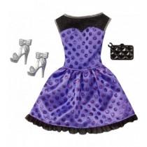 Look glamour Barbie abito corto lilla